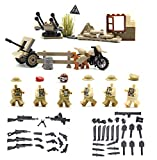 MAGMA BRICK: Weapons Set, Bunker, Weapon Boxs, Motercycle of British Soldier in world war II for Customize Major Brand Building Block Minifigure.