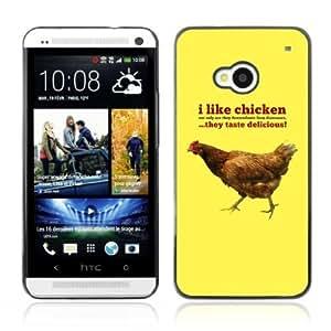 Designer Depo Hard Protection Case for HTC One M7 / I Like Chicknes