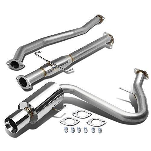 For Scion tC ANT10 4 inches Rolled Muffler Tip Stainless Steel Catback Exhaust System