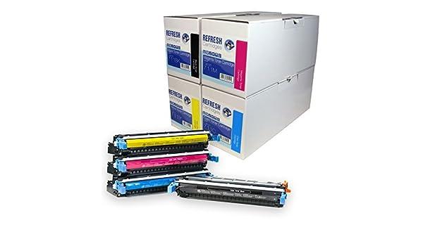Refresh Cartridges - Set de 4 cartuchos para tóner láser ...