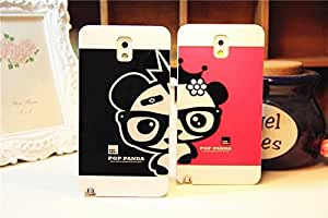 Galaxy Note2 Case,Cartoon Lovely Panda Back Case Cover for Samsung Galaxy Note2 N7100, 1 piece, Red WANGJING JINDA