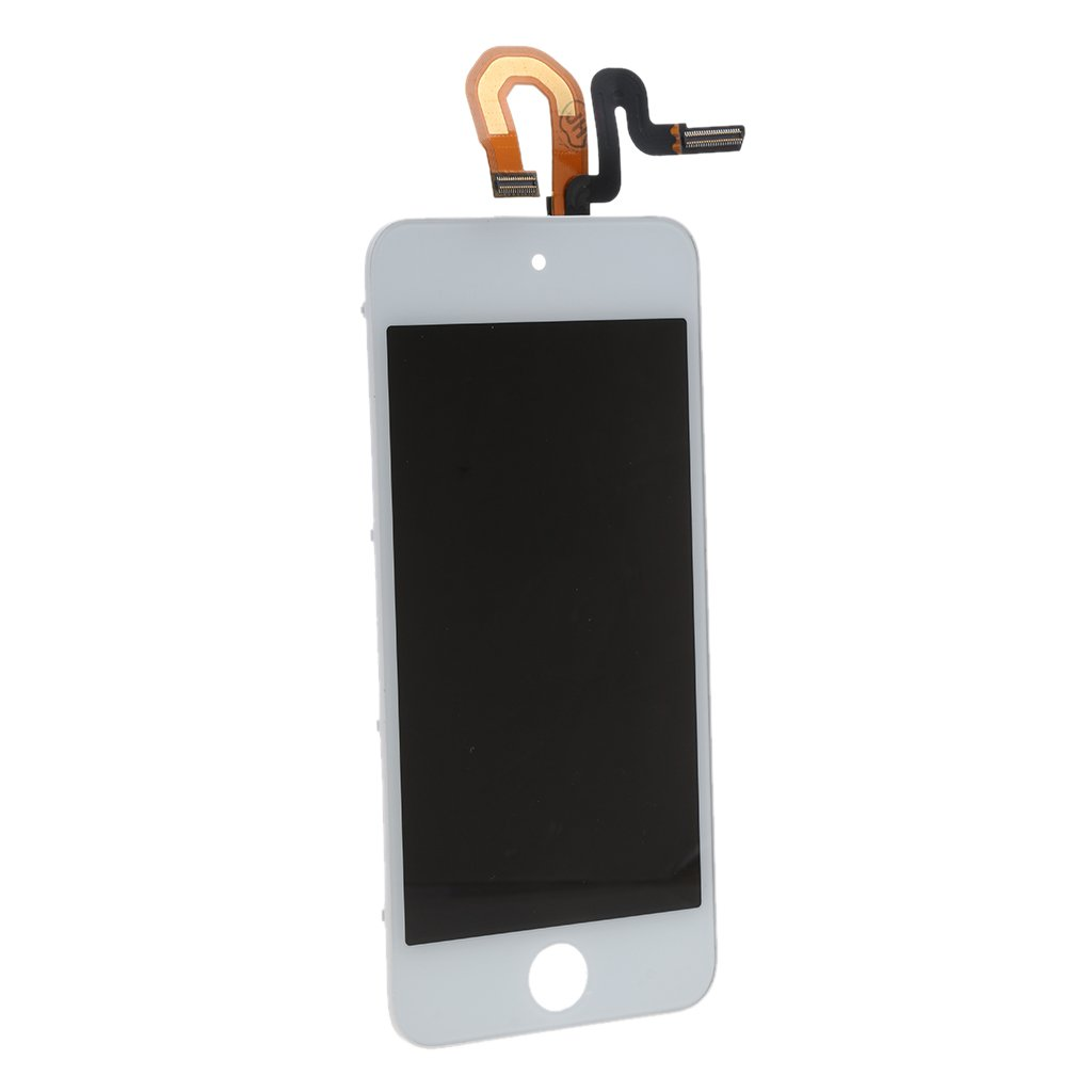 MonkeyJack NEW Digitizer Touch Screen Glass w/ LCD Display Assembly Repair Kit for iPod Touch 5 White