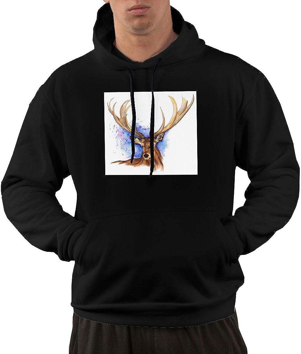 Iponvx Power Deer Hoodie Mens Performance Active T-Shirt Hoodie