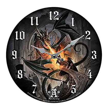 Amazon.com: Order Of The Dragon Flamethrower Wall Clock By Alchemy ...