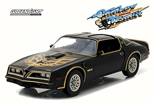 Greenlight 1977 Pontiac Firebird Trans Am Smokey and the Bandit Die-Cast Vehicle, Black and White