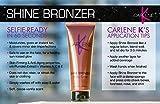 Carlene K Shine Bronzer Body Glow - Bombshell Bronze - 4 oz Bottle - Instant Tan with Anti-aging Ingredients