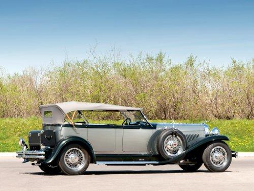 duesenberg-model-j-dual-cowl-phaeton-1929-car-art-poster-print-on-10-mil-archival-satin-paper-silver