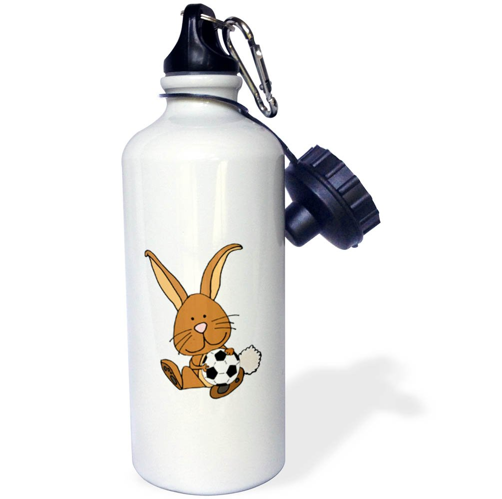 3dRose wb/_270098/_2Funny Cute Sloth Riding Llama Cartoon Straw Water Bottle White