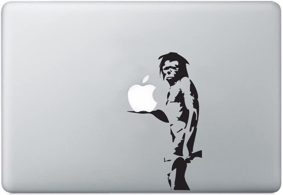 Banksy Caveman Decal Sticker for MacBook, Air, Pro All Models.