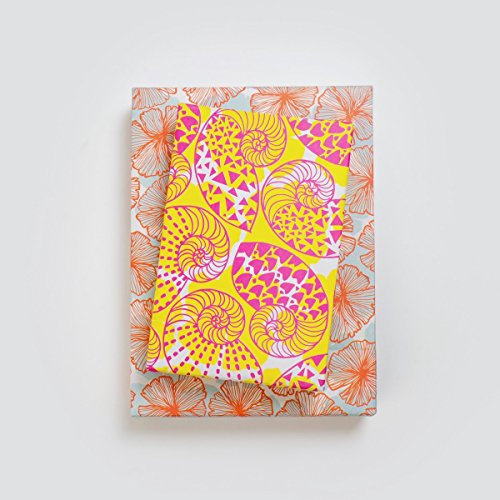 Nautilus Shell/Aloha Print Flower (6 Sheet Value Pack) - Eco-Friendly Wrapping Paper - Reversible - Gift Wrap by Wrappily