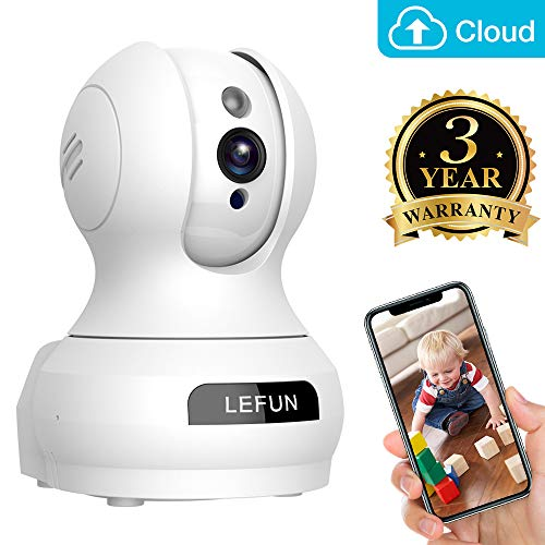 Baby Monitor, Lefun Wireless IP Security Camera WiFi Surveillance Pet  Camera with Cloud Storage Two Way Audio Remote Viewing Pan Tilt Zoom Night