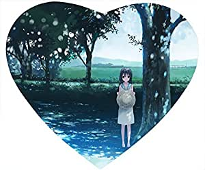 Belle Heart Shaped Mouse Pad Waiting for You