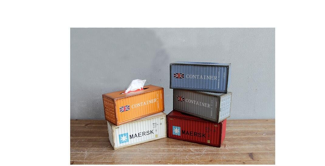 Beauqueen Retro Nostalgische Metall Wohnzimmer Dekoration Container Modell Tissue Box Pumping Papierkartons , h