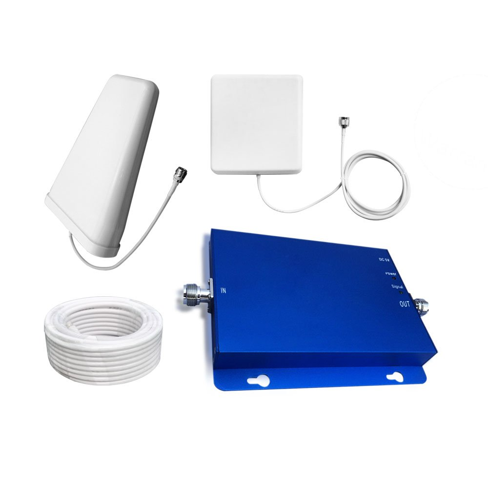 Sanqino 65db Cell Phone Signal Booster, Cell Booster for home and office, Enhances 2G/3G/4G Signals, Works With Verizon, AT&T,T-Mobile and U.S. Cellular. by Sanqino