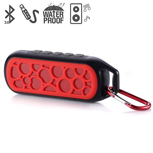 Glückluz Altavoz Bocina Bluetooth Portatiles para la Ducha Impermeable Bluetooth 3.0 y AUX Mini Altavoces para el Tiempo de...