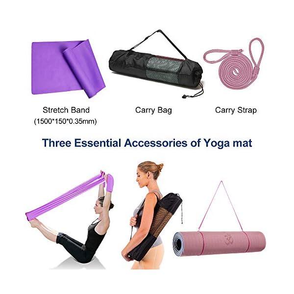 DBG - Tappetino da Yoga in TPE, Antiscivolo, con Superficie Strutturata migliorata per Una Maggiore aderenza, Tappetino da Allenamento Antiscivolo per Tutti i Tipi di Yoga, Pilates e Fitness 6 spesavip