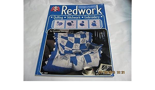 8f21251922b1 Redwork In Blue (Design Originals 5069)  Laurene Sinema  Amazon.com ...