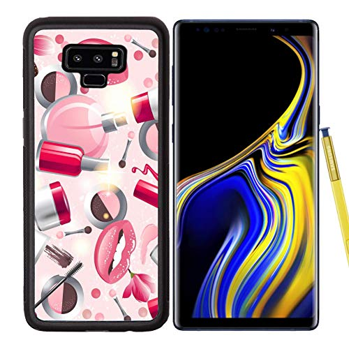 Liili Premium Samsung Galaxy Note 9 Aluminum Backplate Bumper Snap Case Image ID: 17242843 Glamorous Make up Seamless Pattern (Best Makeup Case Reviews)