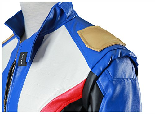 DAZCOS US Size PU Leather Soldier 76 Cosplay Jacket/Gloves