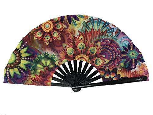Large Lucy's Dream Folding Hand Fan, Rave Fan, Festival Fan