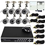 VideoSecu 8 Channel Security DVR CCTV Recording Network Digital Video Recorder Surveillance System with 8 Night Vision Infrared Security Cameras, 2TB Hard Drive, Power Supply, Video Cables W64