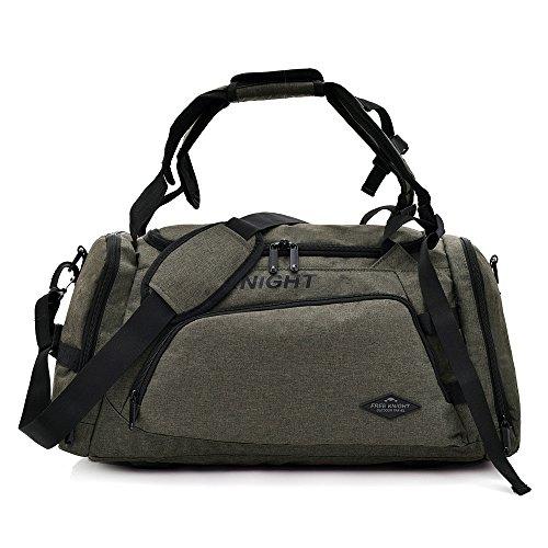(Carry On Sports Handbag, TechCode Large Multi Travel Handbag Camping Shoulder Outdoor Bags Sporty Gear Shoulder Handbag Duffel Tote Bag Waterproof For Men Women Traveling Hiking Climbing)