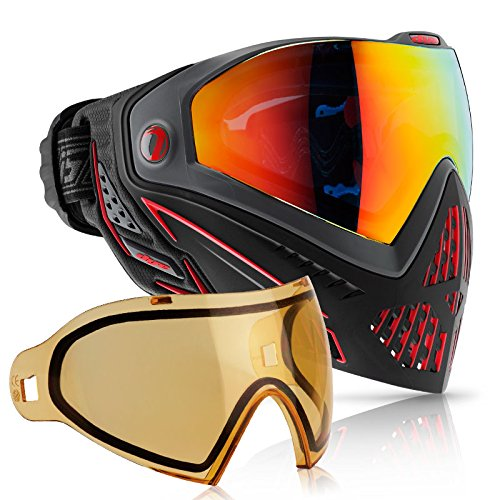 Dye i5 Paintball Goggle (Fire with HD Thermal Lens Combo) by Dye