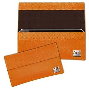 SIMON PIKE Cáscara Funda de móvil NewYork 2 naranja Nokia C2-05 Fieltro de lana