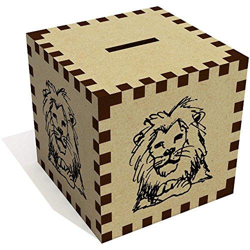 Azeeda 'Resting Lion' Money Box / Piggy Bank (MB00037423) ()