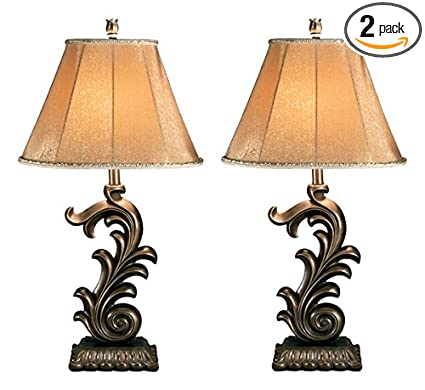 Charmant Ashley Furniture Signature Design   Eliza Table Lamp Set   Poly Resin   Set  Of 2