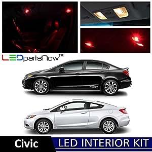 Ledpartsnow 2006 2012 honda civic led interior lights accessories replacement for 2012 honda civic interior accessories