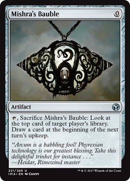 Bauble Card - Mishra's Bauble - Iconic Masters