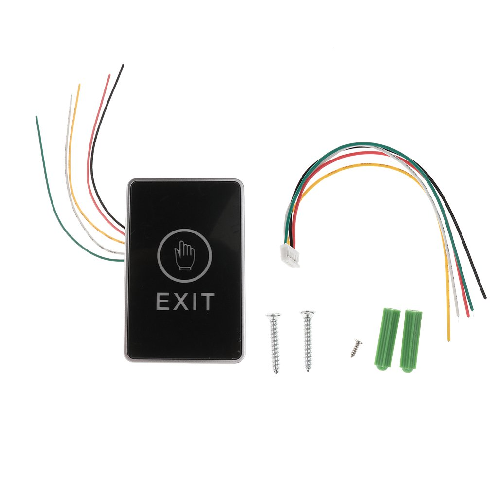 Touch Pad 12V Door Exit Release Button Switch For Access Control W// LED Light