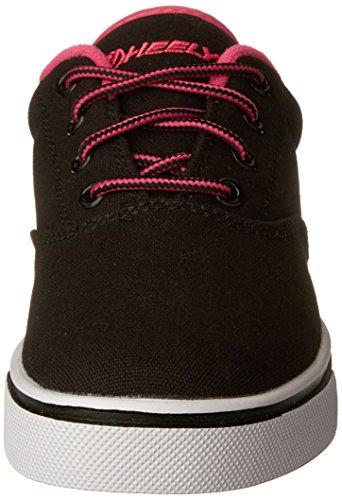 Heelys Lancia La Scarpa Da Skate (bambino / Bambino / Bambino Grande) Nero / Rosa Neon / Bianco