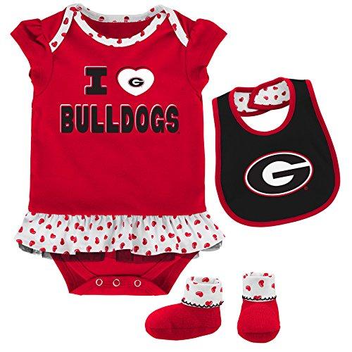 georgia bulldogs baby bib - 5