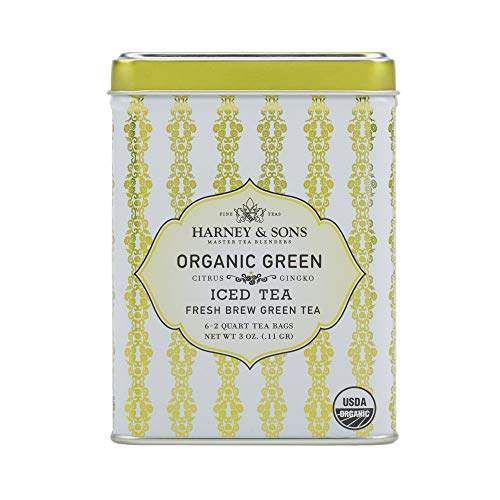 - Harney & Sons Green Iced Tea, Organic Citrus Ginko, 6 Tea Bags