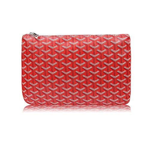 Stylesty Designer Clutch Purses for Women, Pu Envelope Fashion Clutch Bag, Women Handbag (Medium, Red) by Stylesty (Image #4)
