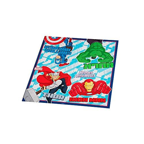 Regina Guard. F. Dupla 25x25cm R 70 Avengers Animated Pacote De 16 Unidades