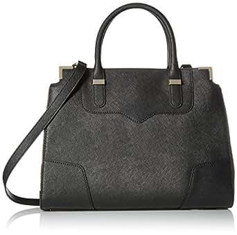 Rebecca Minkoff Amorous Satchel Handbag,Black,One Size