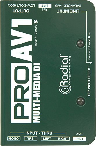 Radial Engineering R8001112 Pro AV1 Direct Box by Radial Engineering