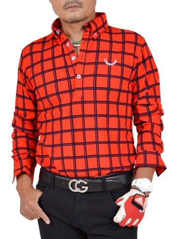 決定すると組む周波数【コモンゴルフ】 COMON GOLF メンズ ストレッチ ワッフル素材 長袖 ゴルフ ポロシャツ CG-LP652