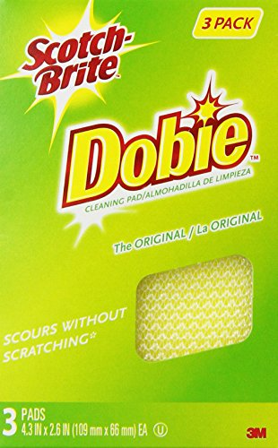 Scotch-Brite Dobie All-Purpose Pad, 3 Count (Pack of 8)