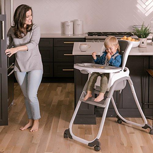 51U9KCsskAL - Ingenuity SmartClean Trio Elite 3-in-1 High Chair - Slate - High Chair, Toddler Chair, & Booster