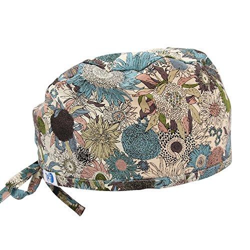 GUOER Women's and Men's Scrub Cap Scrub Hat One Size Multiple Color (Scrub Hat)