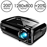 "Projector, CiBest BL58 LED Video Projector 3500 lm Luminous Flux LED Source High Brightness for 200"" Home Theater Support 1080P HDMI USB VGA to Laptop iPhone/iPad Smartphone Home Entertainment Party"