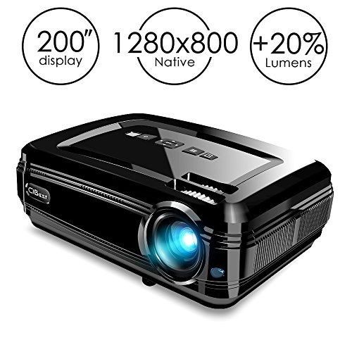 "Projector, CiBest BL58 LED Video Projector 1080P HD with +20% Lumens High Brightness for 200"" Home Theater Support HDMI/USB/VGA/AV/SD to Laptop iPhone/iPad & Smartphone for Home Entertainment & Party by CiBest"