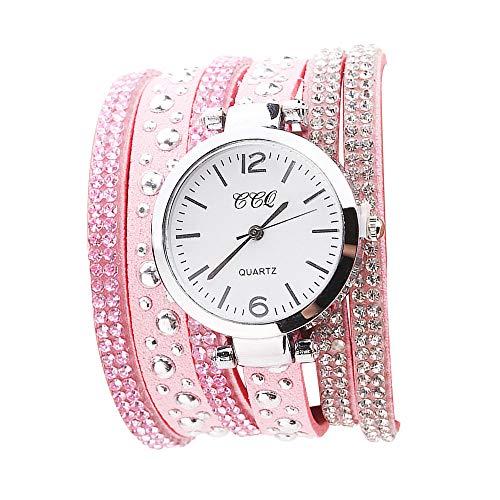 Fudule Women Watches, Bracelet Quartz Watches for Women Vintage Wristwatches Round Dial Case Dress Watch for Girls on Sale ()