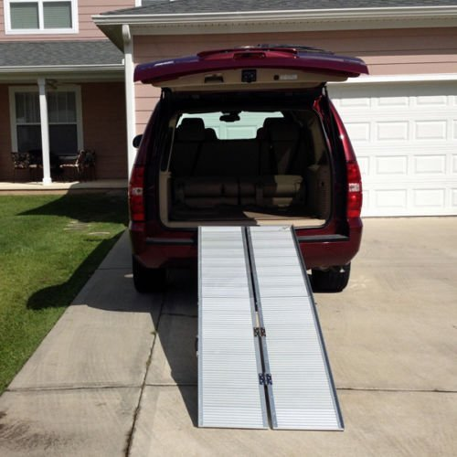 10' (120'') Portable Aluminum Wheelchair and Scooter Ramp (10')