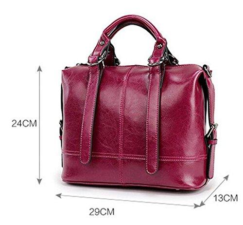 Sacs Les Purple Modèles Épaule L'huile De Cire Et Main États En Europe À Fashion Cuir Féminins unis Package Diagonal 1H1rq