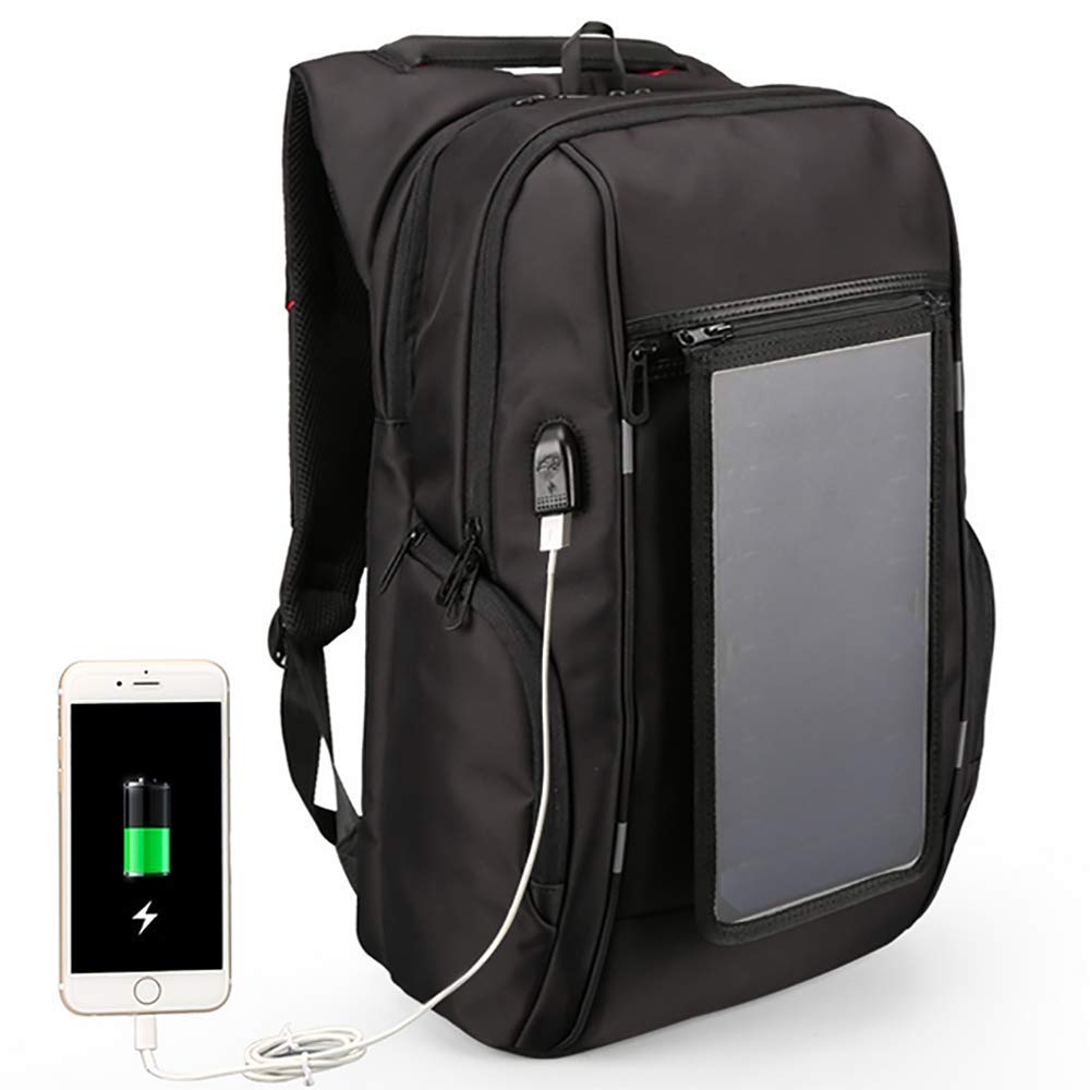 QCC&大容量ソーラーパワーハイキングデイパック 防水USBアウトドアバックパック ハイキング、旅行、サイクリング、キャンプ用 30L KS-3140-I   B07GRSJ92P